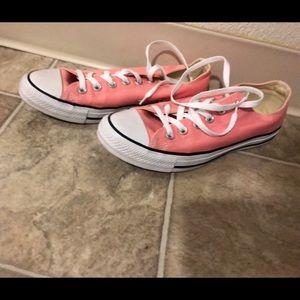 Converse, peach, women's 9, fits 9.5
